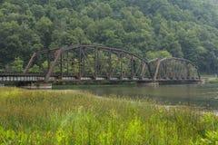 Railroad Bridge Over New River Stock Image