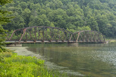 Railroad Bridge Over New River Royalty Free Stock Images