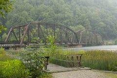 Railroad Bridge Over New River Stock Photo