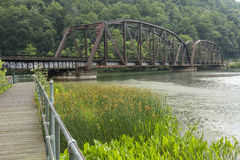 Railroad Bridge Over New River Stock Images