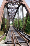 Railroad Bridge over Pearl River Branch. Old but still on an active track, this great old railroad bridge was worth the walk to get the shot Stock Photos
