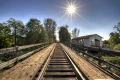 Railroad Bridge Over Thomas Creek 2 Royalty Free Stock Images