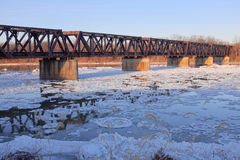 Railroad Bridge Panorama Royalty Free Stock Photography