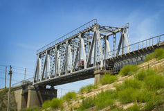 Railroad bridge royalty free stock images