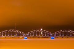 Railroad bridge in Riga Royalty Free Stock Images