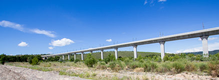 Railroad bridge for TGV in France Royalty Free Stock Images