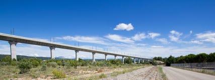 Railroad bridge for TGV in France Stock Photos