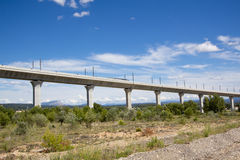 Railroad bridge for TGV in France Royalty Free Stock Photo