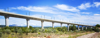Railroad bridge for TGV in France Stock Photography