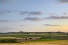 Railroad bridge without train, Italy, Apulia, Mur Stock Photos