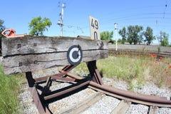 Railroad buffer stop Royalty Free Stock Image