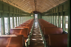 Railroad Car Interior. This is a picture of a railroad car interior Stock Images