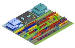 Railroad Cargo Transportation Isometric Design Concept Royalty Free Stock Photography