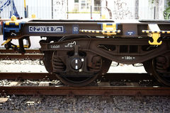 Railroad carriages side view Stock Photo