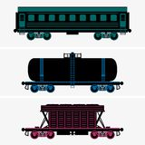 Railroad cars Royalty Free Stock Images
