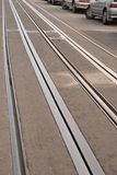 Railroad and cars Stock Photos
