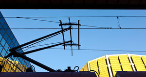 Railroad catenary Stock Photos