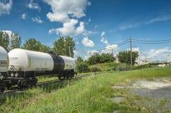 Railroad Chlorine Tank Car Stock Photography