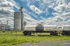 Railroad Chlorine Tank Car Royalty Free Stock Photography