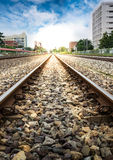 Railroad in the City Stock Photography
