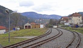 Railroad in city Visegrad, Bosnia and Herzegovina Stock Images