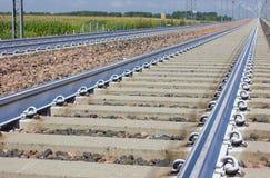 Railroad close-up Stock Photos
