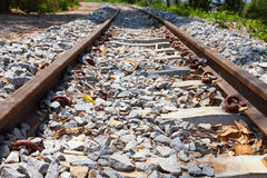 Railroad close up Royalty Free Stock Images
