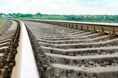 Railroad closeup. soft focus Stock Image