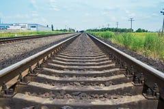 Railroad closeup to horizon Stock Images