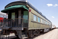Railroad club car Stock Images