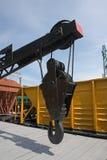 Railroad crane Stock Photo
