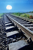 Railroad in Crimea Royalty Free Stock Images