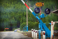 Railroad crossing Stock Photography