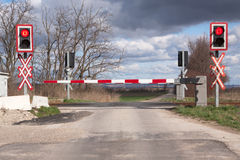 Free Railroad Crossing Royalty Free Stock Image - 14585926