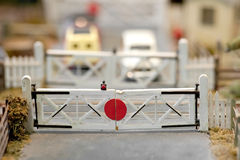 Railroad crossing Stock Image