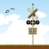 Railroad Crossing royalty free illustration