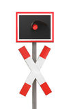 Railroad crossing. Railroad railway cross crossing sign germany Royalty Free Stock Photography