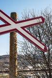 Railroad crossing Stock Photos
