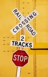 Railroad Crossing Royalty Free Stock Photos