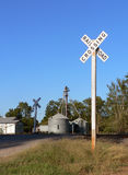 Railroad Crossing. Rural Railroad  Crossing Sign Royalty Free Stock Photo