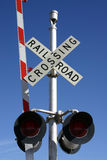 Railroad Crossing. Lights Stock Photo