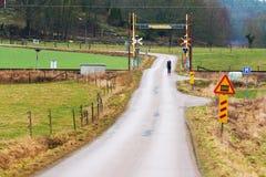 Railroad crossing Royalty Free Stock Photo