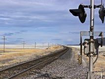 Railroad crossing near the Black Rock Desert Royalty Free Stock Image