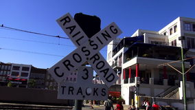 Railroad Crossing New Orleans Louisiana stock footage