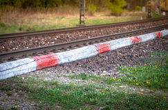 Railroad crossing. Old railroad crossing at Slovakia Royalty Free Stock Photos