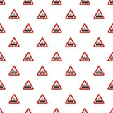 Railroad crossing pattern seamless. In flat style for any design stock illustration