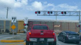 A railroad crossing