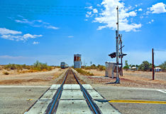 Railroad crossing at route  95 Royalty Free Stock Photos