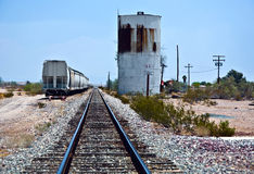 Railroad crossing at route  95 near the village Vidal Royalty Free Stock Photography