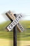 Railroad crossing sign Stock Images